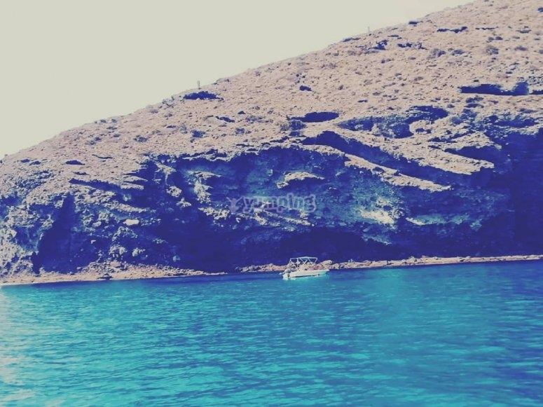 Almeria coast on sailboat