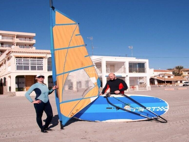 Istruttore di windsurf a Torrevieja