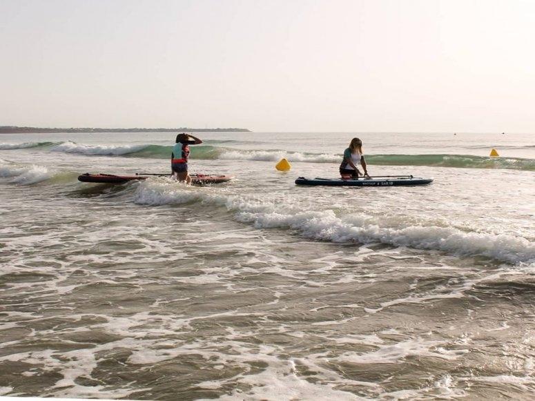 Playa de Milpalmeras y curso de SUP