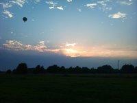 Giro in mongolfiera al tramonto