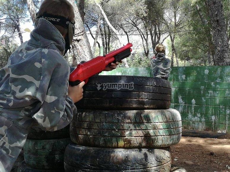 团体儿童彩弹射击Marbella