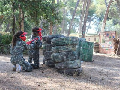 Children's paintball 100 balls in Marbella