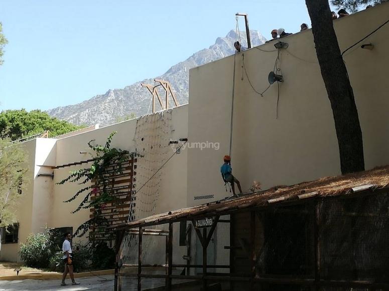 Giornata di discesa in corda doppia nelle nostre strutture a Malaga