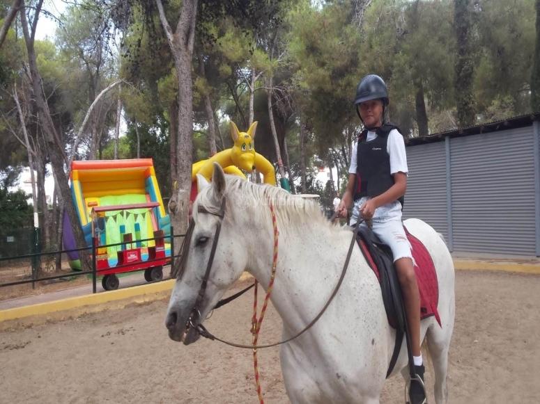 Clase de equitación en Nagüeles