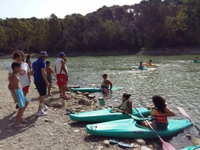 Canoe and SUP for schools Lago de Las Tortugas