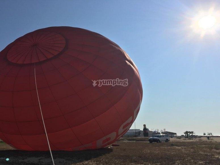 Inflando el globo