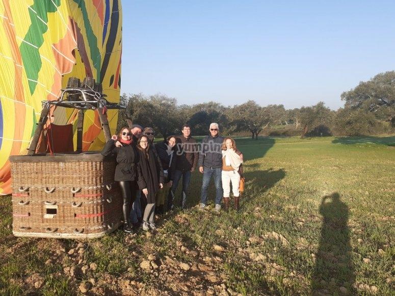 空气静力气球飞行