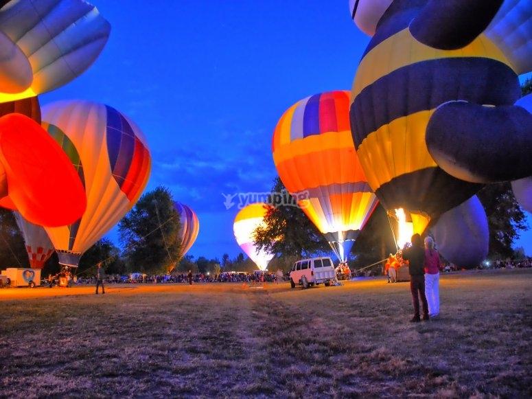 享受热气球之旅