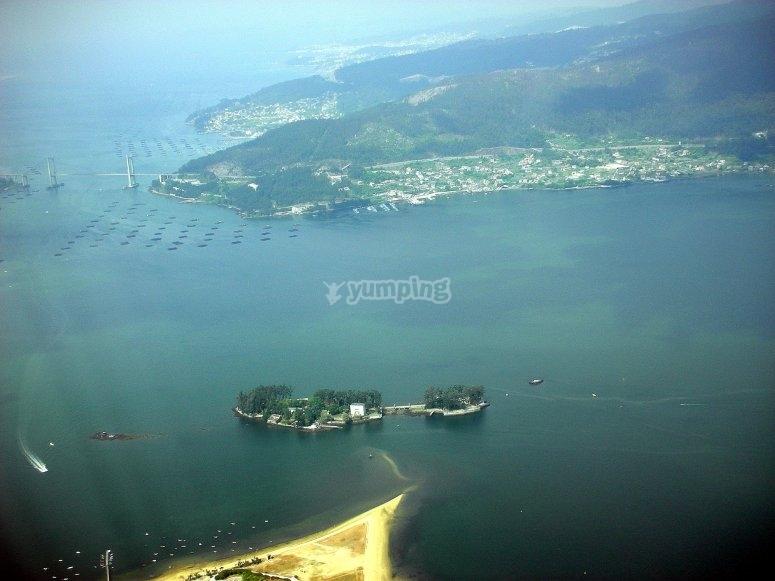 鸟瞰图从加利西亚河口
