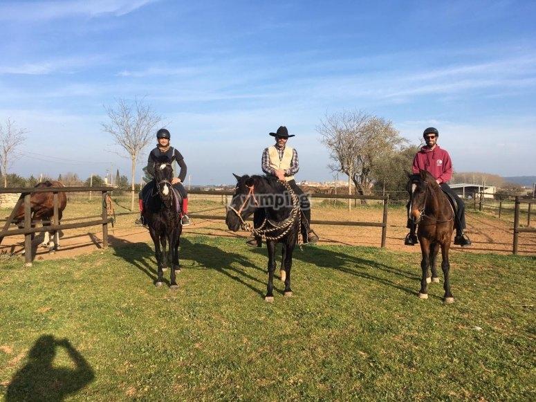 Ruta a caballo campo de Motril