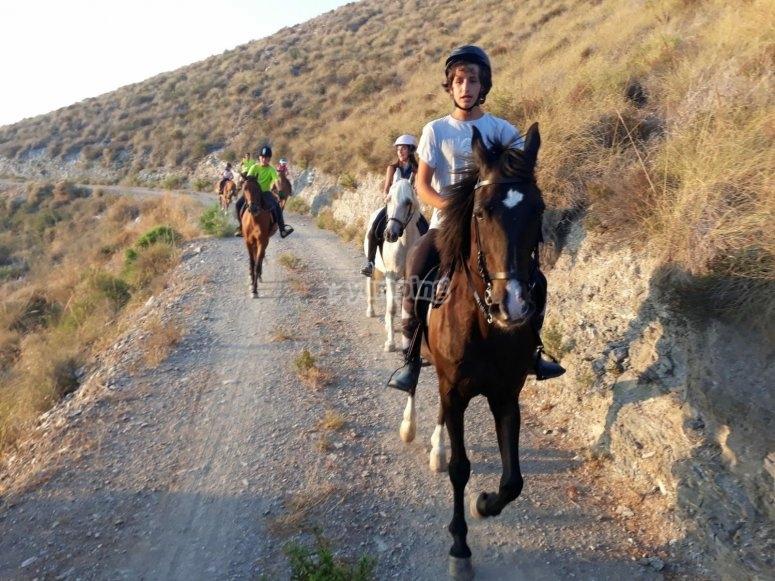 Pasear a caballo por los senderos de Motril