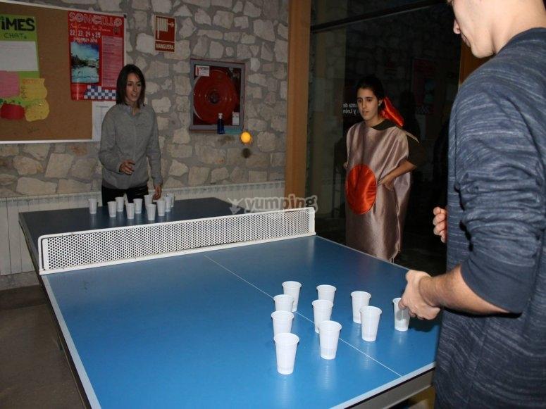 Afinando la puntería con esta modalidad de pin pong
