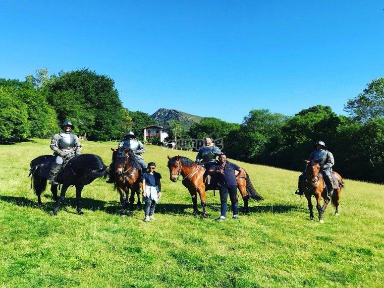 Passeggiata a cavallo attraverso la valle di Baztan