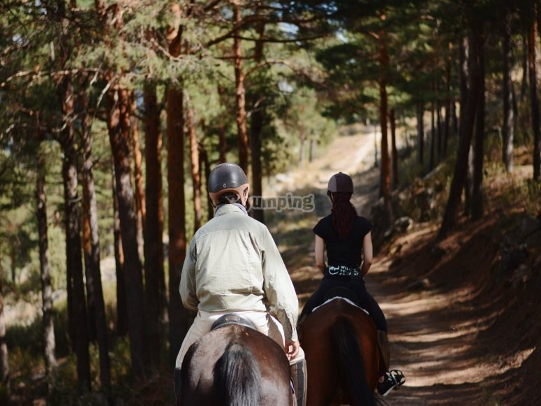 Riding along the trails of the Sierra de Guadarrama