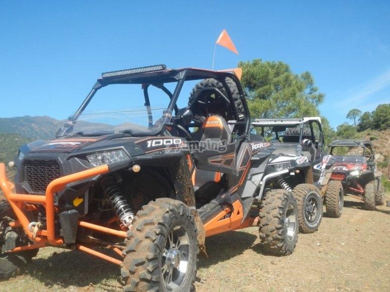 Veicoli 4x4 per percorsi fuoristrada in Sierra de las Nieves