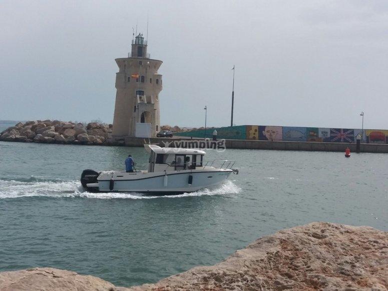 Pasear en barco por el puerto de Cádiz