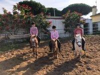 Clase de equitación en Chiclana de la Frontera 1h