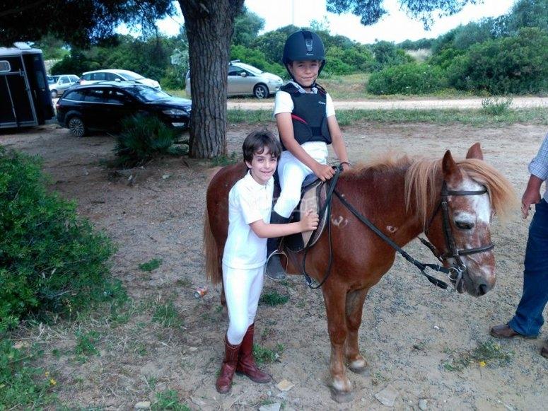 Small riders on La Barrosa