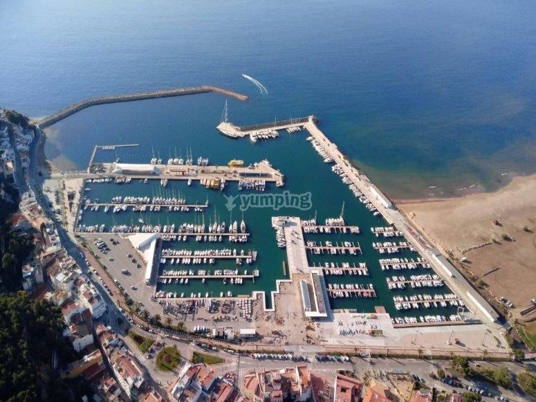 Sobrevolando el Mediterráneo gerundense
