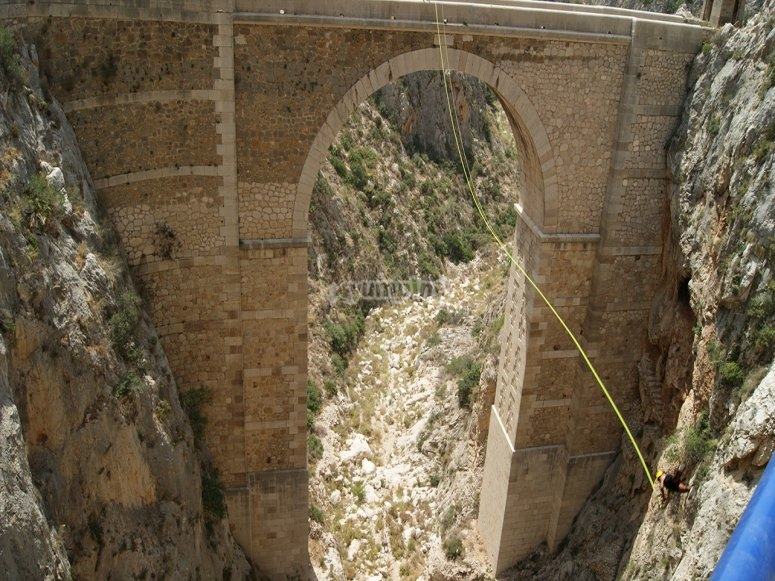 Bungee jumping experience in Calpe