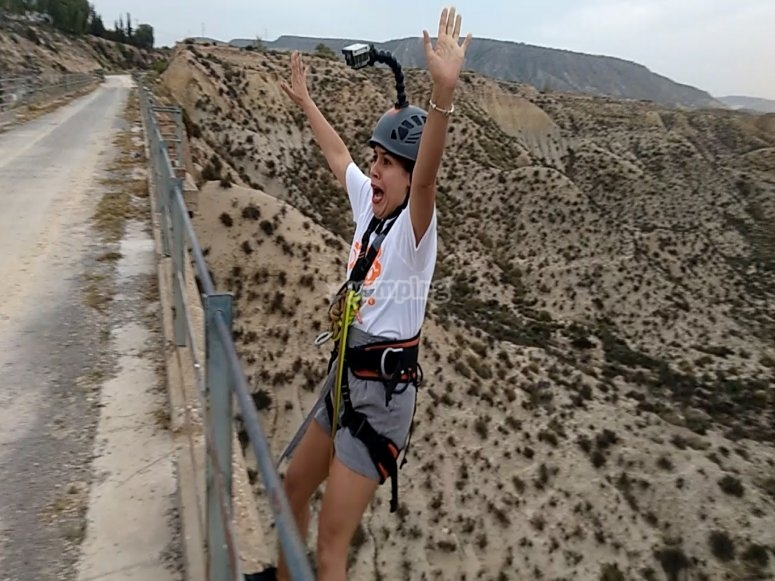 Bungee jump con video in Mula