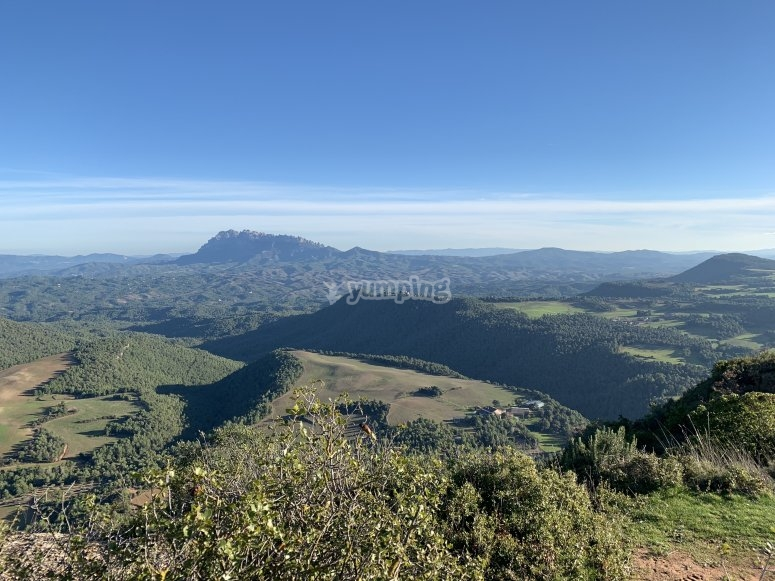 Mountains of Montserrat in buggy