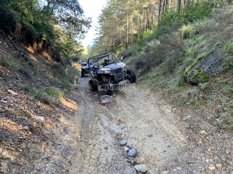 Off-road route in buggy