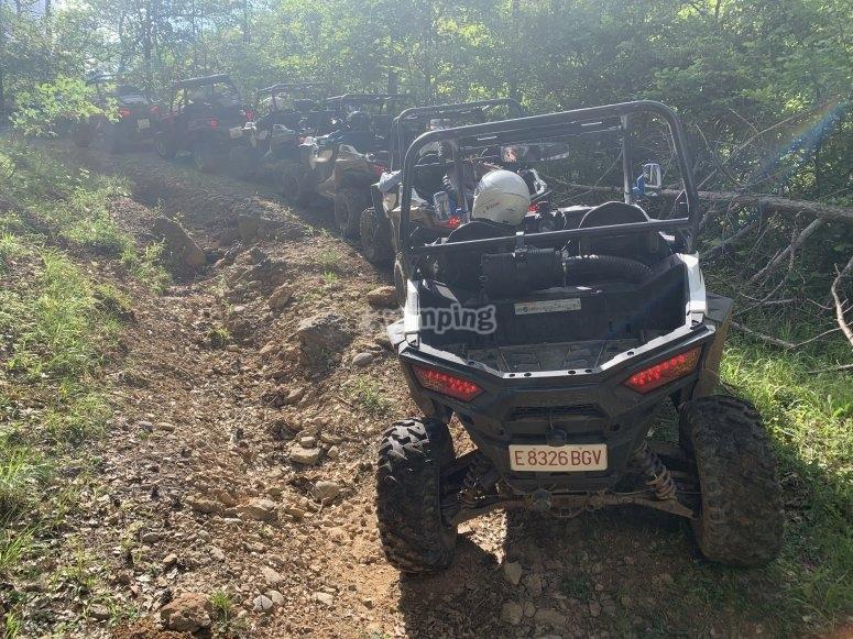 Automatic buggy tour in Montserrat