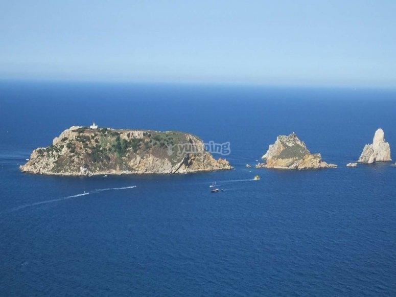 Islas Medas desde el aire