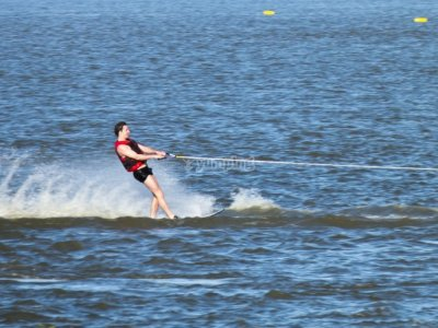 Water skiing improvement in La Manga 1h