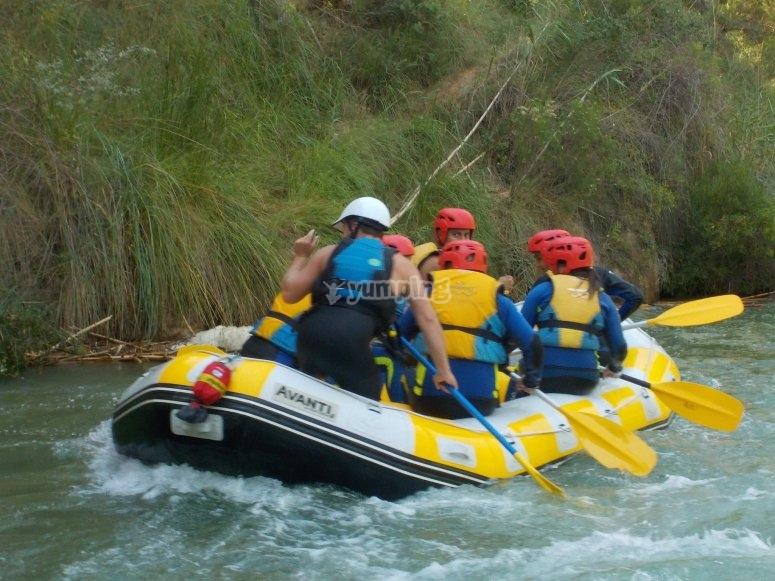 Descender en balsa neumática río Cabriel