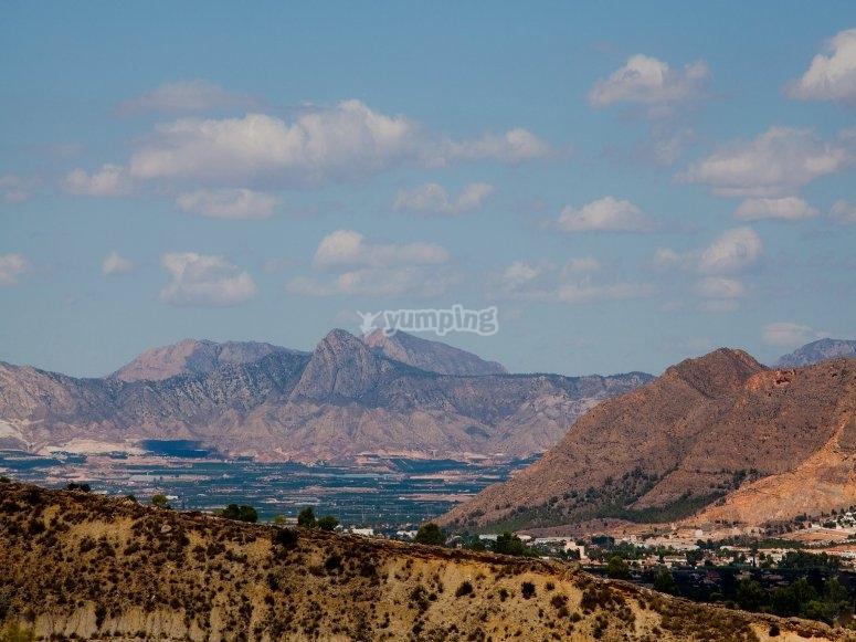 Orihuela山区的景观
