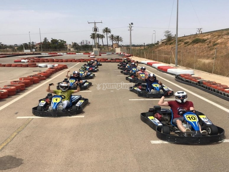8-minute kart run Cartagena