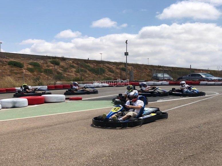 Carrera de karts en circuito Cartagena