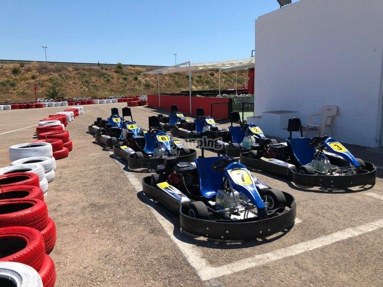 Salida desde la parrilla karting Cartagena