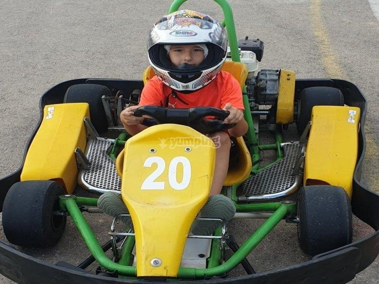 Kart de 120cc para niños