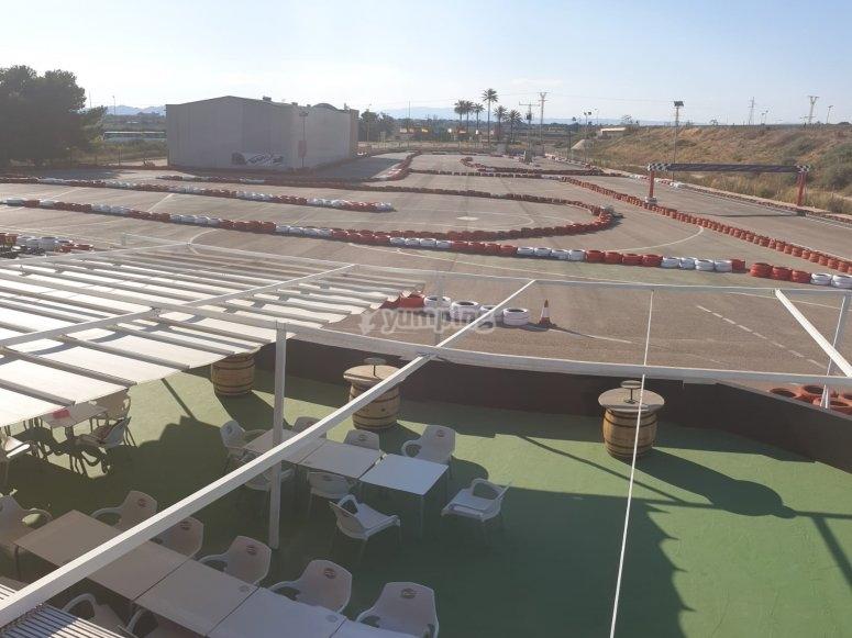 Cafetería en circuito de karting Cartagena