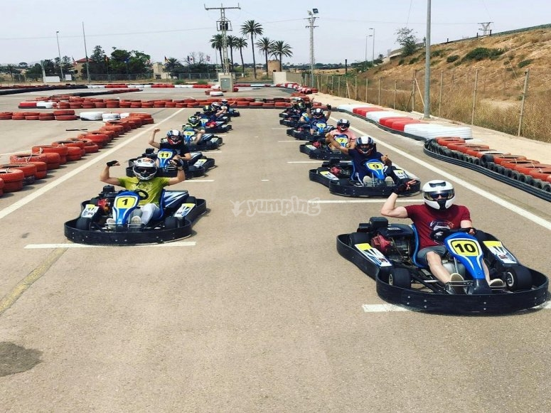 Karting race in Murcia