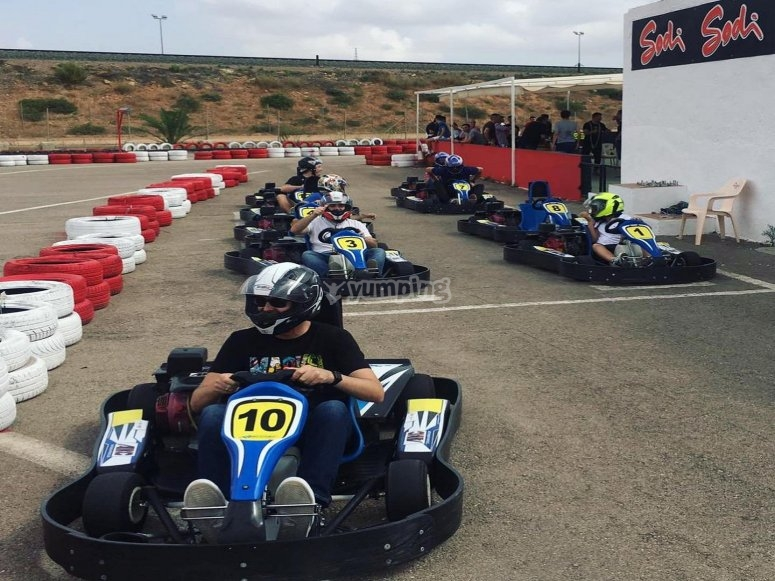 A mole gas in Cartagena's karting circuit