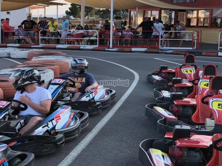 Karting session in Murcia circuit