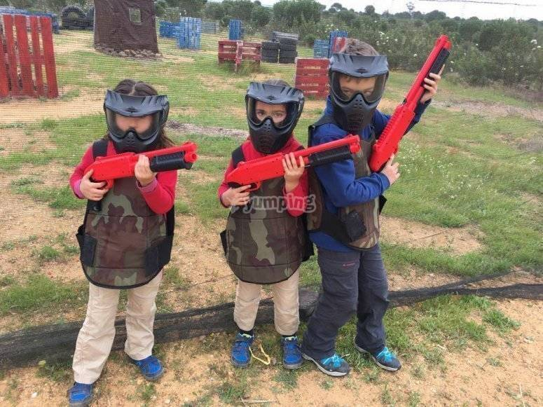 Paintball kids game in El Ronquillo