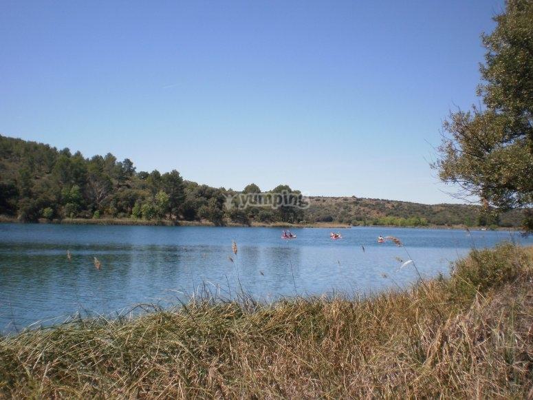 Natural environment of Ciudad Real in balloon