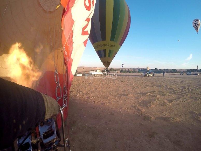 Exclusive balloon flight Ciudad Real