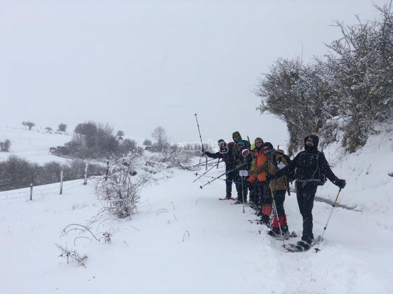 Salida en raquetas de nieve Salamanca