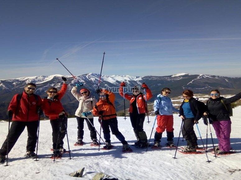Tour raquetas de nieve Circo de Becedas