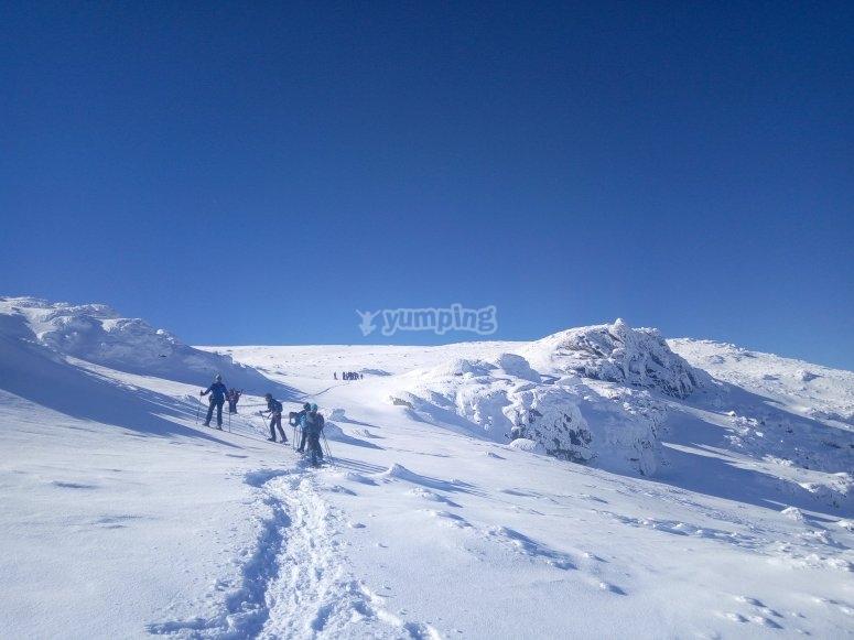 Ruta con raquetas de nieve Sierra de Bejar