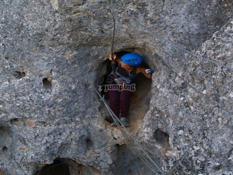 Paso entre rocas en El Ranero
