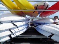 Kayaks autovaciables dobles, individuales, sea kayaks