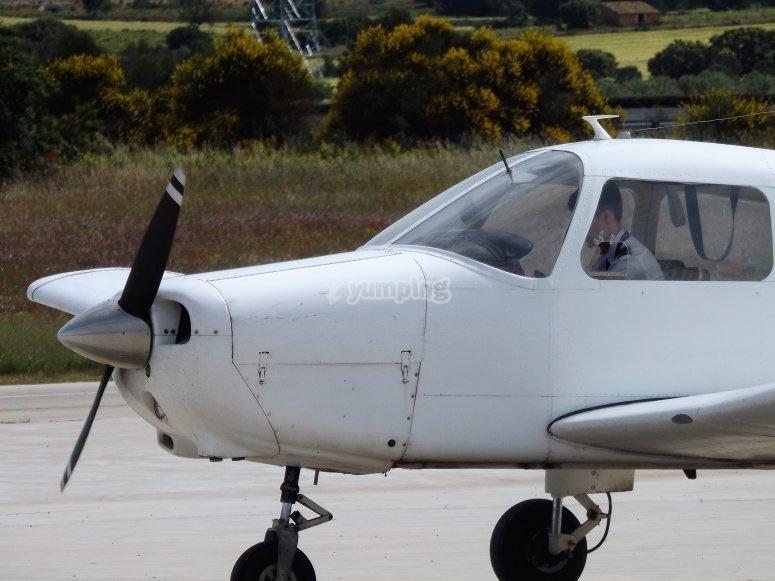 在索佩拉纳(Sopelana)乘坐飞机