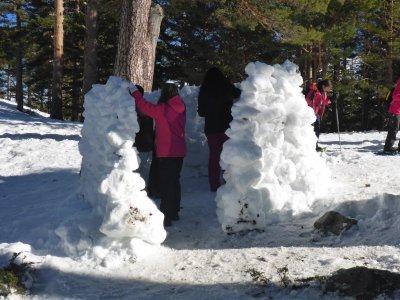 Raquetas de nieve e iglú Navacerrada Niños